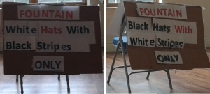 black hats signs