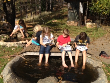 Just friends enjoying  each other, a beautiful day, and the love of reading!
